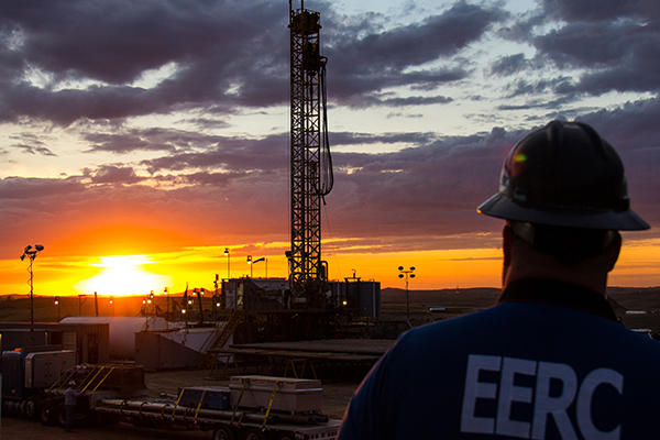 Drilling Rig at Sunrise